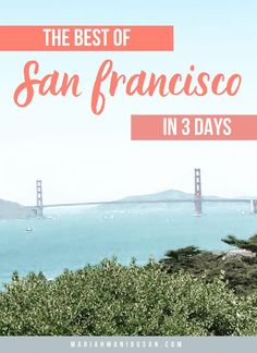 My ultimate guide to visiting San Francisco, California in 3 short days. This itinerary includes both well-known sites, as well as more local hidden gems! #SanFrancisco #USATravel #SF #SFTravelGuide