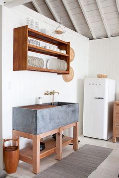 Spüle für die Küche aus Beton