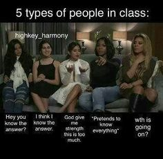 Contains Fifth Harmony Memes I found in the internet I wanna share … # Aléatoire # amreading # books # wattpad Funny Video Memes, Really Funny Memes, Funny Relatable Memes, You Funny, Funny Quotes, Hilarious, Funny Things, Fith Harmony, Fifth Harmony Camren