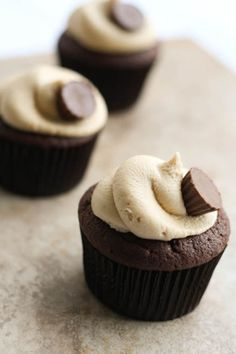 Peanut Butter Cup Cupcakes by The Little Kitchen