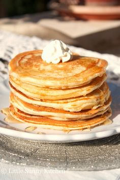 This is a basic, no-fail recipe. Made with basic ingredients that you can always find in your kitchen. These classic, simple, light, soft and fluffy pancakes are not too sweet and are lightly scented with vanilla. One tablespoon of baking powder does the trick, you get fluffy pancakes that aren't hard or flat and do...Read More »