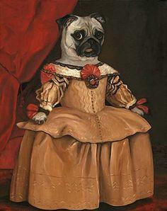 Items similar to Pug Wall Art Prints, Pug Wall Prints, Pug Gifts for Girls, Pug Bar Art, Midge Marie on Etsy Nursery Prints, Wall Art Prints, Canvas Prints, Pugs, Pug Dogs, Fawn Pug, Pug Art, Gifts For Girls, 17th Century