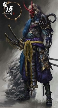 celestial samurai concept #warrior #coloredart #asian
