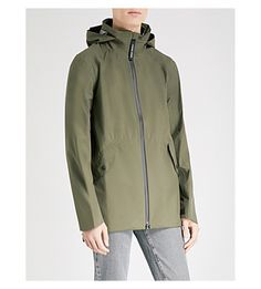 Canada Goose Riverhead Seam-sealed Shell Jacket In Dark Sage Black Coldest Place On Earth, Cold Hands, Canada Goose, Cold Weather, Hooded Jacket, Seal, Rain Jacket, Windbreaker