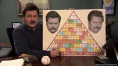 Following the Swanson Pyramid of Greatness; a Parks and Recreation Guidebook.