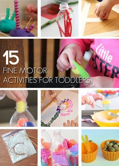 15 {Fun} Fine Motor Activities for Toddlers - Kids Activities Blog