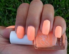 Julie neon peach nail polish<3