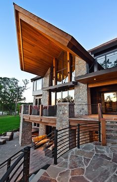 Beautiful modern mountain residence designed by Eskuche Associates and Martha O'hara Interiors located in Minnesota