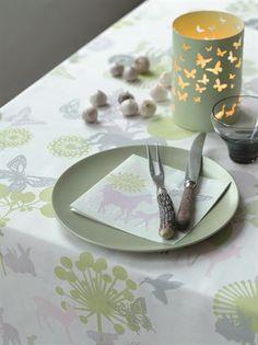 Serpentine paper napkin - light violet horse - Design by Susanne Schjerning