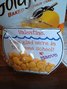 Goldfish valentine/school snack idea