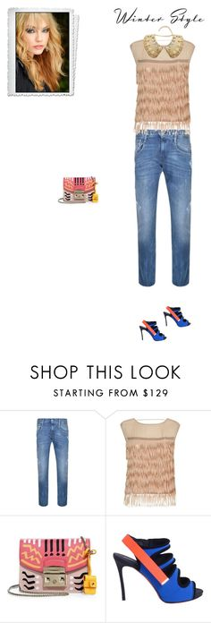 """""""Unbenannt #6955"""" by pretty-girl-in-fashion ❤ liked on Polyvore featuring Replay, Patrizia Pepe, Furla, Dsquared2 and Dolce&Gabbana"""