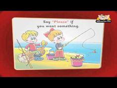 Flashcards for children - Good manners  This short video is a great visual tool to help teach your kids some basic manners.