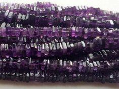 Amethyst Beads Amethyst Heishi Beads Amethyst by gemsforjewels