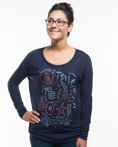 Take Me To The Ocean Flowy Long Sleeve Tee – Sevenly