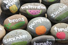 Gardening reduces stress & inspires children to eat fruits and veggies. Make it extra fun and creative by painting rock markers together.