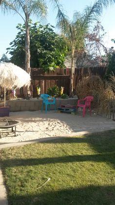 My backyard beach