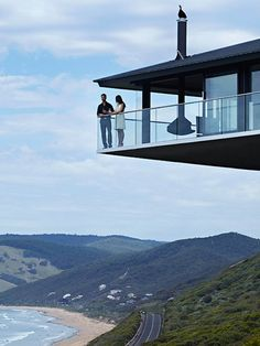 POLE HOUSE BY F2 ARCHITECTURE. Fairhaven beach, Great Ocean Road, Australia.