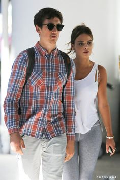 Pin for Later: Can't-Miss Celebrity Pics!  Miles Teller popped up at LAX with his girlfriend Keleigh Sperry on Thursday.