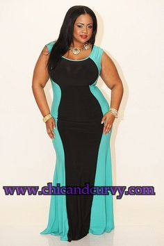 New Plus Size Spring Mint Rockin My Curves Gown 1X 2X 3X available at www.chicandcurvy.com