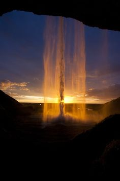 *Mystical Beam* (waterfall at sunset)