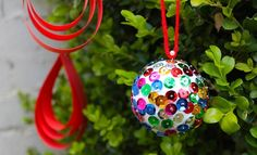 Make a Sparkly Christmas Bauble | Homemade Christmas Decorations | Christmas