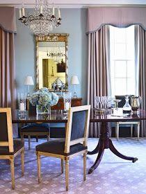 Lavender /gray  Robbins egg blue dining room