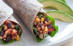 These smoky, spicy burritos are stuffed with a delicious medley of brown rice, sweet corn and black beans. Roll up the mixture with tomatoes, lettuce and avocado for an ultra-satisfying meal.