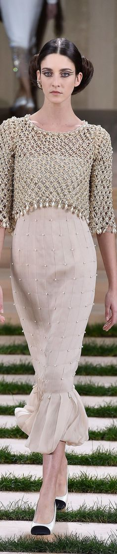 Hijab Fashion : Chanel Spring 2016 CoutureGorgeous embellishments.Cheaper to have custom-made