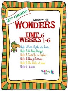 If you are already using or you are new to the Wonders Reading Program, this 300+ page bundle is for you. You'll have help with weekly lesson planning, printables for centers or word work activities, anchor charts, writing activities, high frequency word practice, an abundance of spelling activities, and much, much more.Check the table of contents below to see exactly what is included in the each packet.