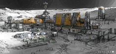 Destiny: Moon Base, Dorje Bellbrook on ArtStation at http://www.artstation.com/artwork/destiny-moon-base