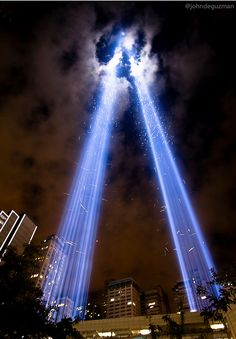 Tribute in Light in remembrance of September 11, 2001.