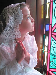 2nd Place Winner in The Catholic Company's 8th Annual First Communion Photo Contest: Emma G. at her First Holy Communion in Atmore, Alabama