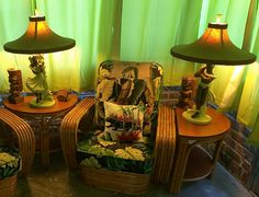 Vintage Hawaiian Reglor Lamp Restoration Posted on April 13, 2015 by Hepcat Restorations  [So much like Grandma's house, but also she had a picture of a Hawaiian waterfall that seemed to move and I was transfixed by it, I remember falling asleep looking at it many times...]