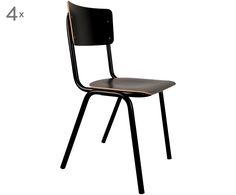 Fans der klaren Linien aufgepasst! Hier kommt Stuhl BACK TO SCHOOL, der durch seine schlichte Erscheinung entzückt. Egal ob am Schreibtisch, zum Essen oder als dekoratives Item im Wohnzimmer - dieser Stuhl untermalt die moderne Aura optimal und verleiht jedem Raum einen coolen Loftcharakter. Das Modell ist aus schwarzem High Pressure Laminat gefertigt und mit einem Gestell aus Metall bestückt. Sie pflegen einen zeitgenössischen und lässigen Wohnstil? Dann ist das schnörkellose Modell von…