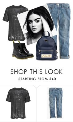 """лизетт"" by explorer-14162393566 on Polyvore featuring косметика, Topshop, J.Crew и Dr. Martens"