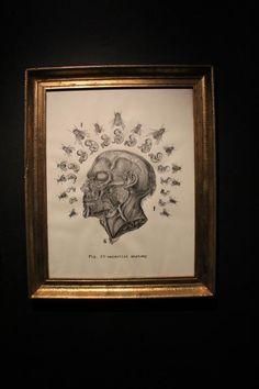 """Ultima semana para aprovechar la exposición """"Rigor Mortis"""" de Lina Prieto y Jimmy Spinosa P! No te la pierdes!  Celestial Anatomy - 2013 - dibujo - Jimmy Espinosa"""