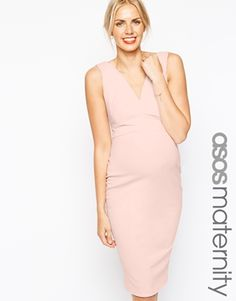 ASOS Maternity Exclusive Body-Conscious Dress With Plunge Neck In Scuba ***My baby shower dress!***