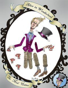 Alice in Wonderland Paper Dolls - The Mad Hatter