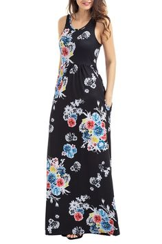 Robe longue rose cichic