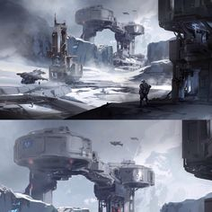 """Halo 5 warzone concepts. (Snowzone)"""