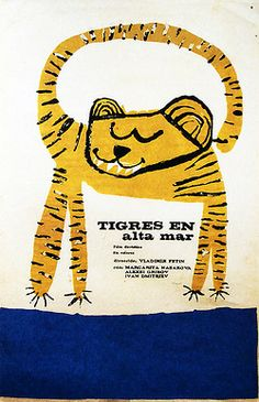 Eduardo Muñoz Bachs Character Illustration, Illustration Art, Screen Print Poster, Pet Tiger, Vintage Poster, Love Design, Animal Drawings, Art For Kids, Screen Printing