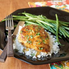 Orange-sauced chicken is a super fast supper idea that is rich with flavor, yet only has around 200 calories per serving. Serve over rice or with mixed vegetables.