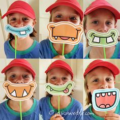 Cute Printable Birthday Party Monster Grins available on Etsy
