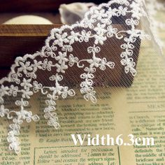 7yrd/lot Width:6.3cm Fancy leaf design ivory color lace for garment embroidered mesh lace trimming diy accessories(ss-4817)