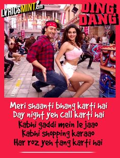 Ding Dang Lyrics of Munna Michael Song starring Tiger Shroff & Nidhhi Agerwal. The song is sung by Amit Mishra & Antara Mitra and composed by Javed-Mohsin. Michael Song, Filmy Quotes, Disco Songs, Caption Lyrics, Bollywood Movie Songs, New Hindi Songs, Girls Status, Trending Music, Romantic Song Lyrics