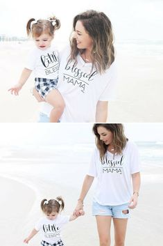 Gifts for Mom, Blessed Mama, Mothers Day Gift, mommy and me shirts, matching mother daughter, mom and son matching outfits, mommy and me #ad