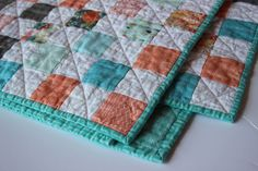 This is a sweet, soft, & pretty baby quilt in my #etsy shop: Baby quilt, baby girl quilt, modern baby quilt, baby blanket, baby girl blanket, baby girl bedding, modern crib bedding, crib bedding Baby Girl Bedding, Baby Girl Quilts, Quilt Baby, Girls Quilts, Crib Bedding, Girl Nursery, Modern Crib, Quilt Modern, Modern Color Schemes