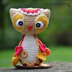 Gehaakte baby uil.. :-) Haar naam is Emma en ze is een lieve kleine baby uil.  * Dit is een patroon van de gehaakte en niet de afgewerkte item *  Dit