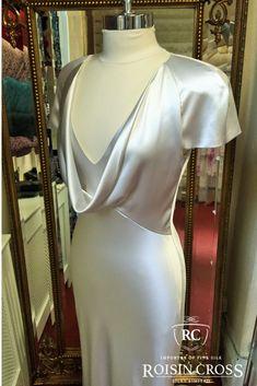 Silver Treble Silk Satin Crepe Debs Dress made at Roisin Cross Silks Dublin Silk Organza, Silk Crepe, Silk Chiffon, Silk Satin, Deb Dresses, Formal Dresses, Dressmaking, Dublin, Velvet
