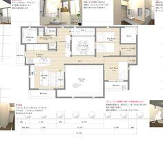 東京・豊島区池袋のデザイン住宅|2階の間取り|スキップフロアーでプライバシーを持たせた二世帯住宅